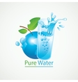 Planet Earth and a glass of clean water vector image