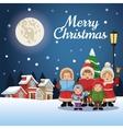 Singing cartoon of Christmas carol design vector image