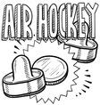 Air Hockey vector image