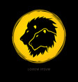 head lion and lioness vector image