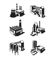 Types of industrial construction vector image vector image