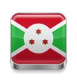 Metal icon of Burundi vector image