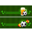 Soccer backgrounds vector image vector image