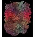 doodles musical art background vector image