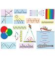 Physics - oscillations and waves phenomena vector image