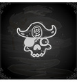 Hand Drawn Pirate Skull vector image