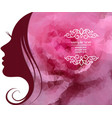 template layout with beautiful female profile vector image