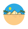 Egyptian pyramids style line flat vector image vector image