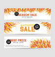 autumn sale banners season sale template vector image