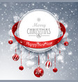 christmas banner with fir branches vector image