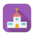 Church single flat icon vector image