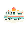 colorful flat ice cream truck isolated on vector image
