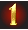 golden letter on red vector image