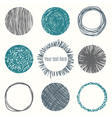 Hand drawn circle banners Scribble Shapes vector image