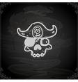 Hand Drawn Pirate Skull vector image