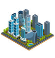 isometric 3d of modern urban vector image