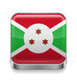 Metal icon of Burundi vector image