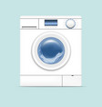 realistic detailed 3d washing machine vector image
