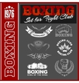 Set - Boxing World Champion Labels and vector image