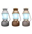 Set of Old Kerosene Lamp vector image