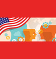 usa united states of america concept of thinking vector image