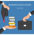 Helping Hand Business Education Concept Trends vector image vector image
