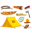 various objects of camping vector image