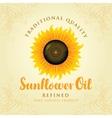 refined sunflower oil vector image