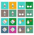 collection with sex subject icons with thin black vector image vector image