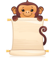 monkey with scroll vector image
