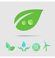 Eco icons collection vector image