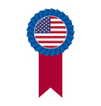 4th july rosette vector image