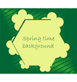 Spring season frame background vector image
