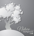 Paper tree background vector image
