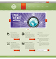 Website design template vector image