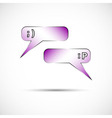Messages and chat icon in color vector image