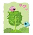 romantic birdies doodle vector image vector image