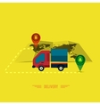 Delivery service 24 hours Cargo truck symbol vector image