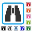 find binoculars framed icon vector image