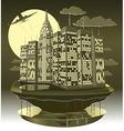 Modern city night vector image