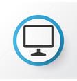 monitor icon symbol premium quality isolated vector image