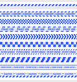 police blue tape vector image