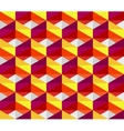 Seamless Colorful Pink Red Yellow Geometric vector image