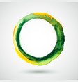 watercolor-ring-olive-yellow vector image