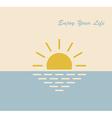 sun sea life vector image vector image