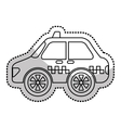 taxi service public isolated vector image