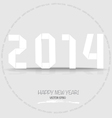2014 Happy New year greeting card made in origami vector image