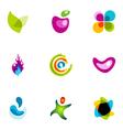 logo design elements set 38 vector image