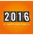 happy new year 2016 card mechanical timetable vector image