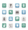 power and electricity industry icons vector image vector image